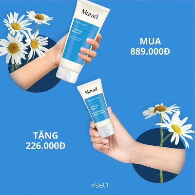 KMT8 - Set 1: Murad Clarifying Cleanser 200ml (Free: Clarifying Cleanser 45ml 226k; night fix 5ml 418k; reviltixir 5ml 434k)